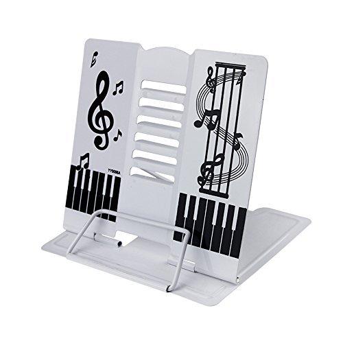 Classic Tisch-Notenständer Musik Kinder Leseständer (Weiß)