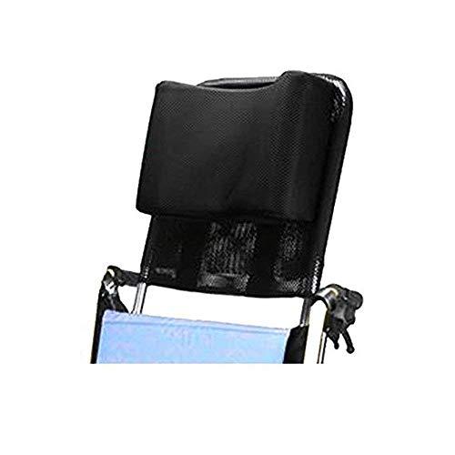 AA-SS- Neck Support Cuscino poggiatesta per Sedia a rotelle Comodo Cuscino Schienale per Sedile, Imbottitura Regolabile per Adulti Accessori Universale per Sedia a rotelle, 16'-20', Nero