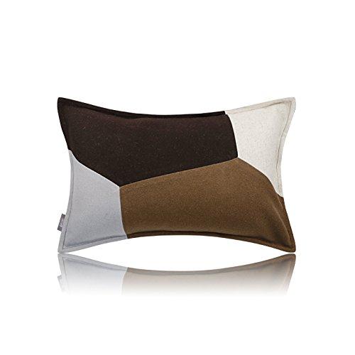 Vaevanhome Kissen Kissen Einfache Moderne Schwarze Braune Nähte Weichen Taille Kissen