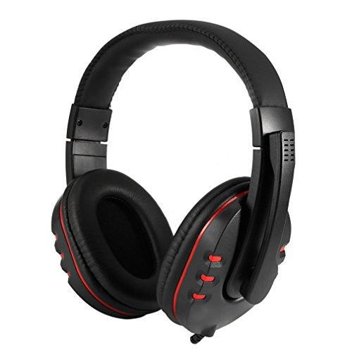 AxiEr Spiel Kopfhörer, Leder Wired USB Stereo Mikrofon Spiel headphonemic Headset für Sony PS3PS4PC Xfdzs-35 (Ps3 Sony Stereo-headset)