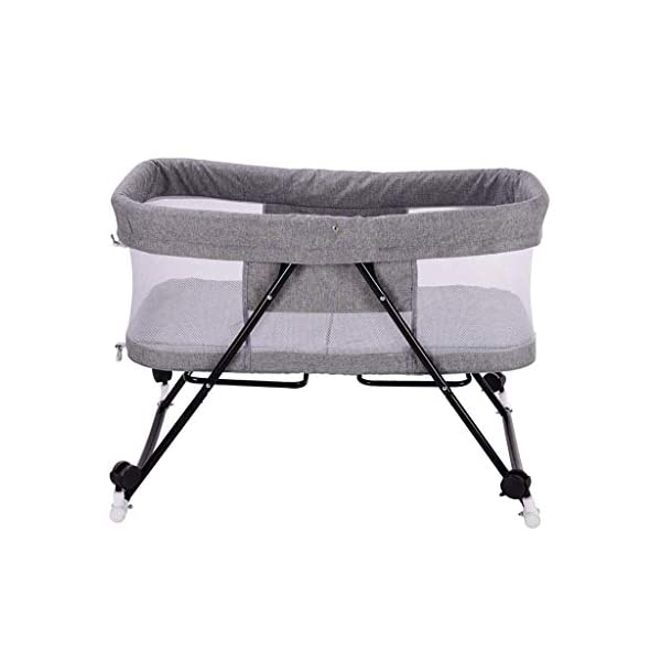 BHDYHM Bed Side Crib for Baby - Sleeper Includes Travel Case, Mattress, Sheet, and Urine Pad Foldable crib BHDYHM *The toddler bed is safe, cozy and easy to access, reinforcing your child's new-found independence. *360° breathable mesh to prevent mosquito bites, easy to observe baby moves *Mattress included with this cradle and gently rock them off to sleep each night. 1