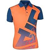 Head HCD-286 Cotton Tennis T-Shirt, XX-Large (Orange/China Blue)