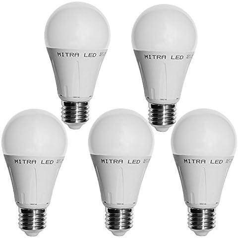 E27E14GU10LED blanco cálido 4050W Bombilla para 5001075lúmenes 67gota de 12W Reflector Bombilla de bajo consumo Mini 5unidades, E27, 12.00 wattsW, 220.00 voltsV