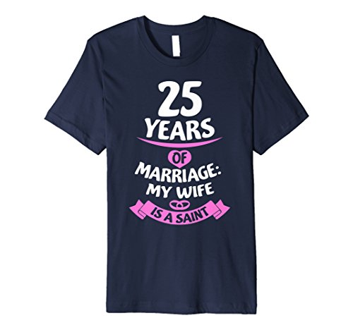 Wedding Anniversary Gift Idea for Husband 25th T-Shirt
