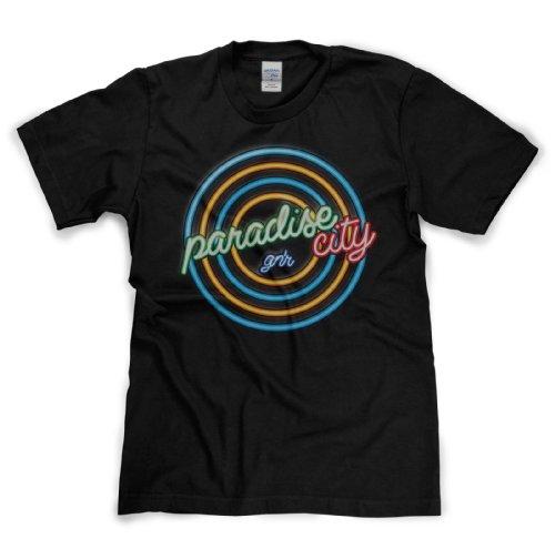 Paradise City Classic Rock Musik Legends Retro-T-Shirt Schwarz