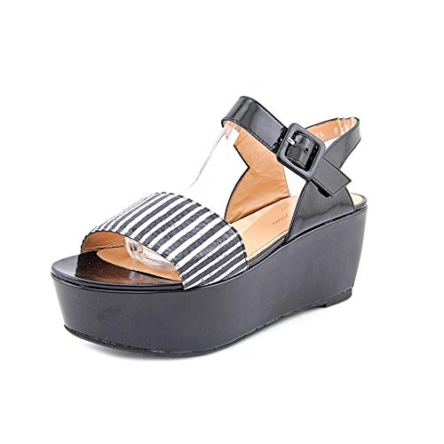 Robert Clergerie Paris Womens Flatform Sandal FRAKS RAY JAZZ NOIR DBL PDR Multicolore