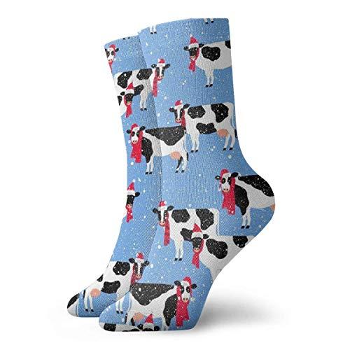 Zhengzho Socken atmungsaktiv festliche Kühe Crew Socke exotische moderne Frauen & Männer gedruckt Sport athletische Socken 30 cm (11,8 Zoll) - Frauen Athletische Socken