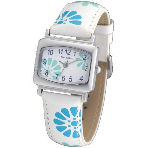 reloj-time-force-para-nina-senora-acero-correa-de-piel-flores-azules-y-verdes-tf-3389b03
