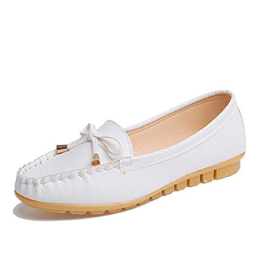 Chaussures, Malloom Les Femmes Appartements Chaussures Glissent Sur Les Chaussures De Confort Chaussures Plates De Mocassins (39, Noir) Blanc