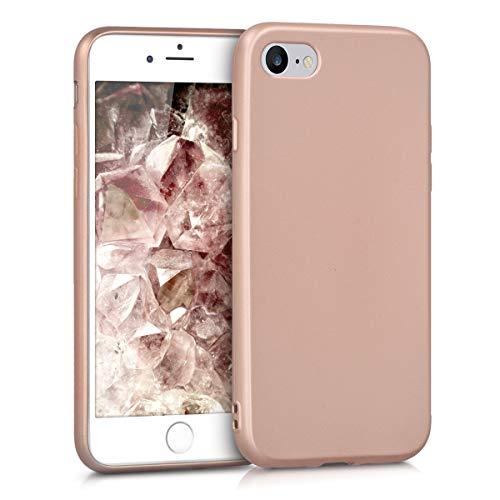 kwmobile Apple iPhone 7/8 Hülle - Handyhülle für Apple iPhone 7/8 - Handy Case in Metallic Rosegold