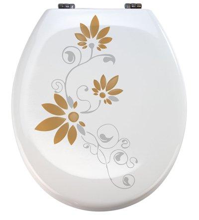 Aufkleber WC Toiletten Deckel St02 für Pressalit silbergrau/beige Vinyl (Tattoo Vinyl-aufkleber)