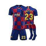GNMM Trikot Fu?Ball Barcelona Trikot UMTITI 23# Trikot Erwachsene Kinder Anzug Kurzarm + Shorts + Socken Fu?Ball Uniform