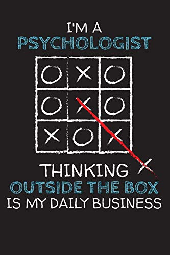 I'm a PSYCHOLOGIST: Thinking Outside The Box - Blank Dotted Job Customized Notebook. Funny Profession Accessories. Office Supplies, Work Colleague ... Retirement, Birthday & Christmas Gift.