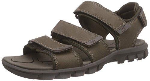 Cat FootwearENTRANT - Sandali con Cinturino alla Caviglia Uomo , Marrone (Braun (MENS BROWN)), 42