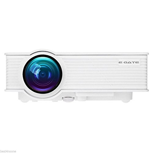 """EGATE i9 LED HD PROJECTOR (White) - HD 1920 X 1080 – HDMI – USB - VGA – 120"""" DISPLAY"""