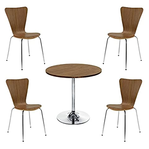 Office Hippo Bistro Set, 1 x Table, 4 x Chairs
