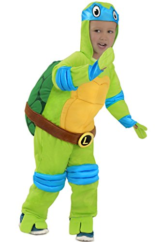 Teenage Splinter Mutant Kostüm Ninja Turtles (TMNT Teenage Mutant Ninja Turtles Leonardo One-Piece Jumpsuit (Kind)