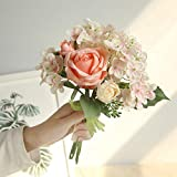 TianWlio Künstliche Seide Gefälschte Blumen Pfingstrose Blumen Hochzeit Bouquet Bridal Hydrangea Decor