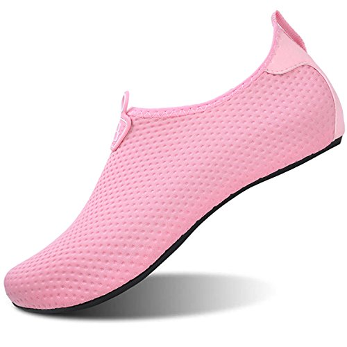 JOINFREE Frauen Wasserdichte Wasser Schuhe Für Damen Herren Schwimmen Jogging Walking Gardening Pink EU 35-36