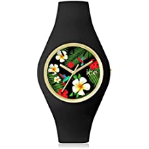 Ice-Watch - ICE flower Paradise - Reloj nero para Mujer con Correa de silicona - 001299 (Medium)
