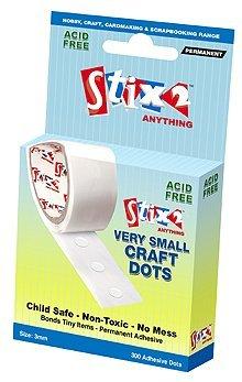 Stix2 Very Small Craft Glue Dots, 3mm, pk of 300