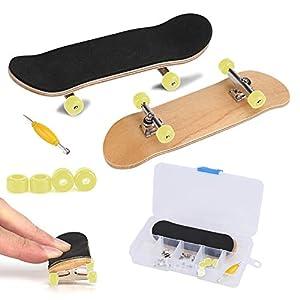 Fingerboard Finger Skateboards, Mini diapasón, Patineta de dedos profesional para Tech Deck Maple Wood DIY Assembly Skate Boarding Toy Juegos de deportes Kids Christmas Gift de Zerodis