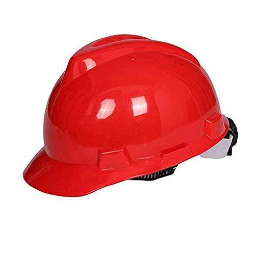WYNZYSLBD Helm for Bauarbeiten Mit Schutzhelmen , Mit Belüftetem 6-Punkt-Helm for Bauarbeiter Mit Belüftung (Color : Red)