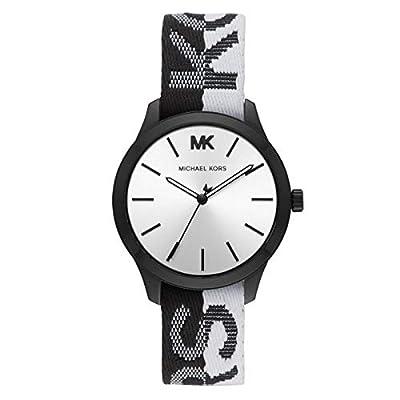 Michael Kors - Reloj para Mujer de Nylon en Color Blanco y Negro - MK2844