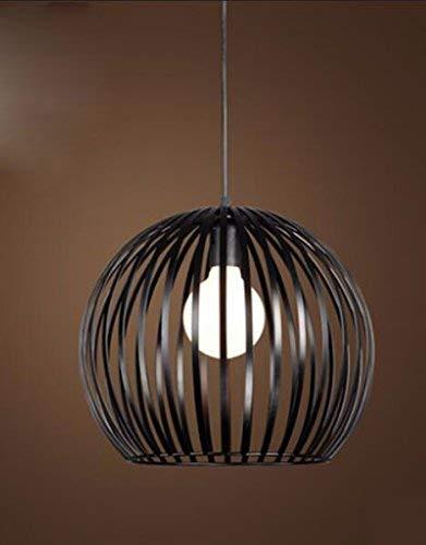 GN Gzz Deng Home Außenbeleuchtung Pendelleuchte Kronleuchter Deckenleuchte Schatten Europäischen Stil Licht Industrie Kreative Retro Schwarz 35X28 cm -
