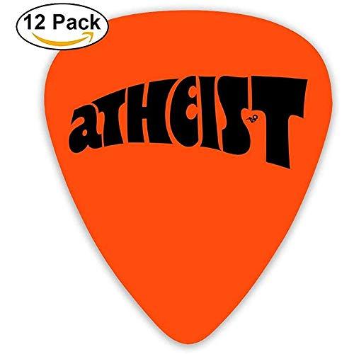 Celluloid Guitar Picks Akustikgitarren-Plektren, Print Atheist Vintage