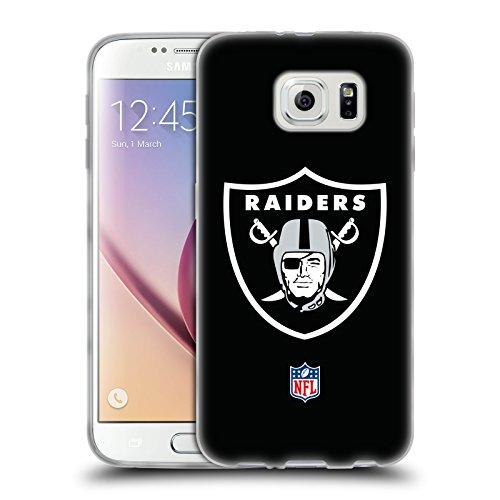Head Case Designs Offizielle NFL Einfarbig Oakland Raiders Logo Soft Gel Hülle für Samsung Galaxy S6
