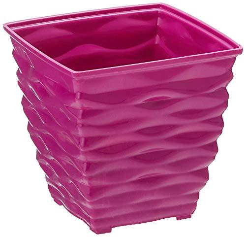 Klassic Plastic Square Planter Set (Small, Purple, Pack of 6)