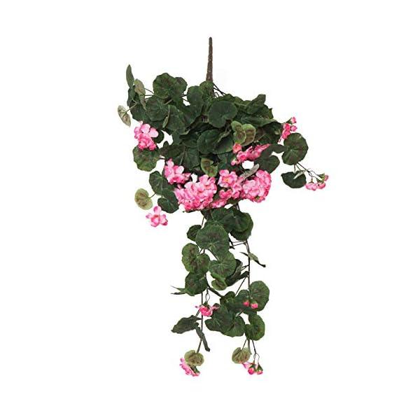 hhkhhgjo Colgando Flores Decoración De Pared Decoración De Vid Flores Artificiales Begonia Rota Decoración De La Boda…