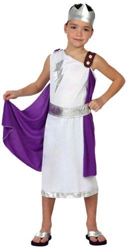 Kinder Kostüm Zeus (Atosa 8422259158691 - Verkleidung Römer, Jungen, Größe:)