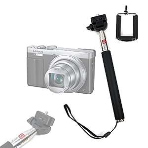 Perche / Selfie Stick DURAGADGET télescopique avec support ajustable pour appareil photo Panasonic Lumix DMC-TZ70, DMC-FT30, DMC-TZ57 et DMC-SZ10 numérique