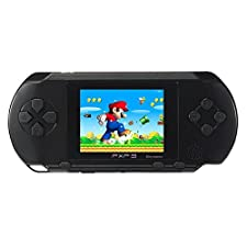 JouerNow Noir PXP 3 Handheld Portable Slim 16 Bit Jeux de Console Rétro Vidéo Jeux 150+ Games Jeux