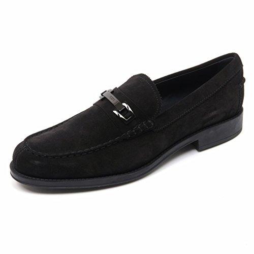 B8359 mocassino uomo TOD'S scarpa macro clamp nero shoe loafer man Nero