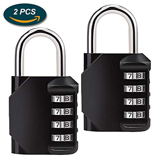 02fc9181b00f Combination Lock,Lookka Combination Padlock with 4-Digit Smooth Dial For  Gym locker,School,Sports Bag,Tool Box,Garden Gate,Garage,Outdoor Shed ...
