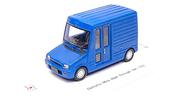 Daihatsu mira walk through van 1992 blue 1:43 auto stradali scala spark