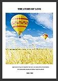 qinhome Wandkunst Leinwand Malerei Home DecorNordic Field Luftballon Landschaft Bilder Für Kinder Poster Kein Gestaltet 20 cm x 30 cm x 1 stück Gelb