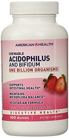 American Health, Acidophilus und bifidum, Kautabletten, Natürliche
