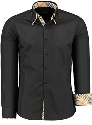 Tmk camicia da uomo, slim-fit - manica lunga - camicie in ferro facile da stirare per affari, tempo libero, matrimoni, feste per uomini