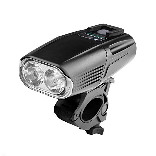 Slowoi New Glare T6 Luce Notturna for Bicicletta Bicicletta da Corsa Luce Impermeabile Mountain Bike Ricarica USB Fari da Guida Torcia a LED