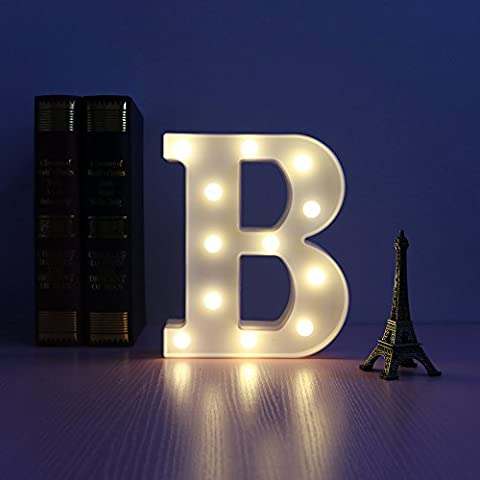 LED Letters Light Sign Alphabet A-Z Plastic Marquee Lamp,Lighting up Words, for Birthday Wedding Party Bar Bedroom Wall Hanging