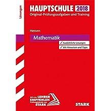 Abschlussprüfung Hauptschule Hessen - Mathematik Lösungsheft
