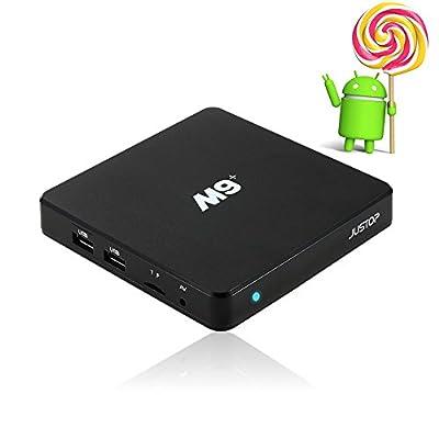 JUSTOP M9+ Android TV Box 5.1 Lollipop KODI TV Box Fully Loaded Amlogic S905 Quad Core 4K HDMI 802.11N WI-FI Bluetooth 4.0