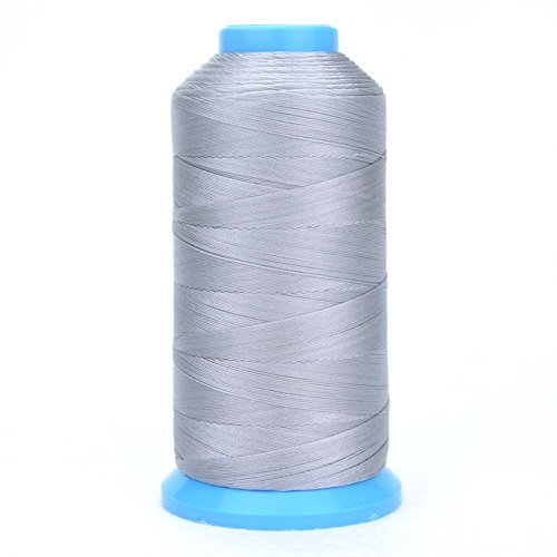 Aussel Bonded Nylon Sewing Thread 1500 Yard Size T70 #69 for the Upholstery, Outdoor Market, Drapery, Beading, Luggage, Purses (Grey) by Aussel