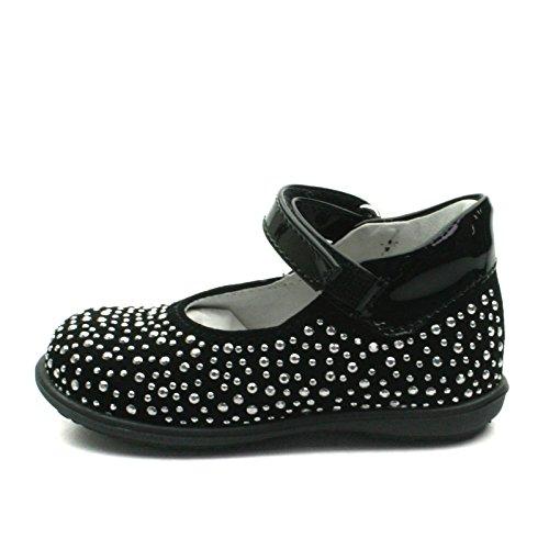 SB158 Studio BIMBI Dolly Shoe w/Studding Detail Smart for Girls >      > Dolly chaussures avec des détails cloutés pour la fête pour les filles Black (noir)