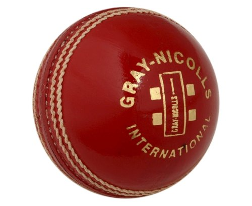 GRAU-NICOLLS Internationale Kricket Ball - Rot, Senior