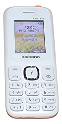 Karbonn K46 LED 1.8 Bright Display Digital Camera 1700 mAh Battery Dual Sim - White Orange